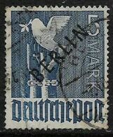 Germany, Berlin, 1948, 5 Mark, Dove, Opt BERLIN,  C.d.s. Used, - Used Stamps