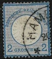 Germany, 1872,Embossed  Eagle, 2 Groschen, Blue, Used HAMB(URG) - Oblitérés