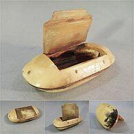* TABATIERE A PRISER EN CORNE - Tabac - Empty Tobacco Boxes