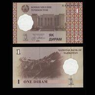 "Таджикистан 1 дирам 1999 года ""Pick 10"" UNC - Tajikistan"