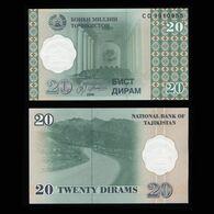 "Таджикистан 20 дирам 1999 года ""Pick 12"" UNC - Tajikistan"