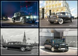 2020-112-115 Russia 4 Postal Cards 100th Anniversary Of A Special Purpose Garage.Government Vehicles.CARS - Voitures