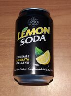 Lattina Italia - Lemon Soda  Crodo - 33 Cl. -  ( Lattine-Cannettes-Cans-Dosen-Latas ) - Dosen