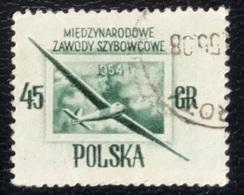 Polska - Poland - P2/60 - (°)used - 1954 - Michel Nr. 851 - Zweefvliegtuig - Used Stamps