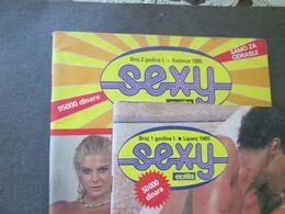 "EROTIC MAGAZINES ""SEXY"" No 1 And 2, 1989,  YUGOSLAVIAN EDITION - Books, Magazines, Comics"