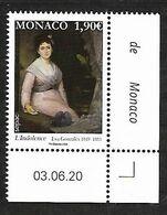 Monaco 2020 - Yv N° 3240 ** - Eva Gonzalès  (L'Indolence) - Sepac - Unused Stamps