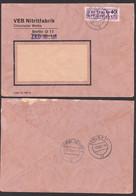 BERLIN ZKD 12(1605) Fern-Doppelbrief 1.10.57, VEB Nitritfabrik ZKD-Nr. 161 Nach Löbau - Service