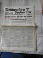 """Originalsausgabe """"Volksgemeinschaft Heidelberger Beobachter 1939 - 5. Guerre Mondiali"""