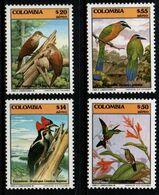 B063B- COLOMBIA - 1985 - MI#:1650, 1656-1658 - BIRDS - MNH - - Kolumbien