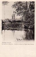 CPA    86   CIVRAY---AU BORD DE LA CHARENTE---CLOCHER ET CHEVET DE L'EGLISE SAINT-NICOLAS - Civray