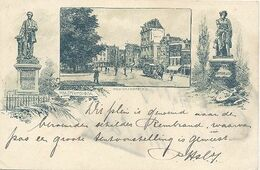 Amsterdam, Rembrandtplein (Litho 1898) - Amsterdam