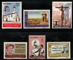 B040B.-. KOLUMBIEN - 1964 - MI#: 1051-1056- MNH- COMPLETE YEAR - Colombia