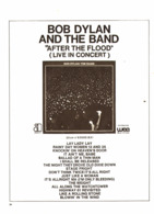 """PUB   DISQUES ALBUM  """" BOB DYLAN And The BAND """"  ( AFTER THE FLOOD LIVE ) 1971 ( 1 ) - Music & Instruments"""