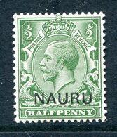 Nauru 1916-23 KGV GB Overprints - ½d Yellow-green HM (SG 1) - Nauru