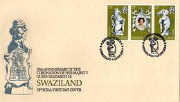 Swaziland - 1978 25th Anniversary Of Coronation FDC # SG 293-295 - Swaziland (1968-...)