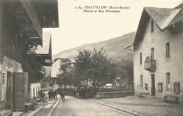 74 - CHATILLON - Mairie Et Rue Principale - Other Municipalities