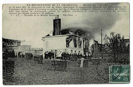 """AY  51  En 1911 Incendie Maison """" Bissinger """" Révolution En Champagne . 1911 - Ay En Champagne"""