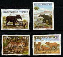 B063C- COLOMBIA - 1985 - MI#:1649, 1653-1655- MNH- FAUNA - Kolumbien