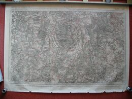 Carte NANCY Toul Vaucouleurs Chavigny Frolois Vezelise Void Gondrecourt Crepey Houdreville Pulligny Xirocourt 1837 - Documents