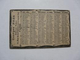 VIEUX PAPIERS - CALENDRIER PETIT MODELE 1907 - Georges FAES Ecrivain Public - Petit Format : 1901-20