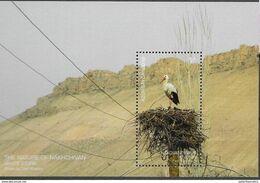 AZERBAIJAN, 2019, MNH, BIRDS, STORKS, S/SHEET - Ooievaars