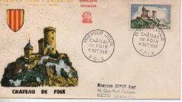 1958   FDC  CHATEAU DE FOIX    N° YVERT ET TELLIER    1175 - 1950-1959