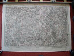 Carte METZ Thionville Spincourt Hermeville Antilly Ornes Senon  Landres Joppecourt Muzeray Bouligny Joeuf Hancourt 1836 - Carte Topografiche