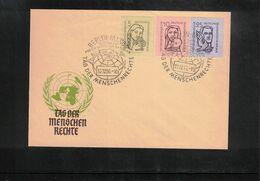 Germany / Deutschland DDR 1956 Tag Der Menschen Rechte Seltenen FDC - FDC: Covers