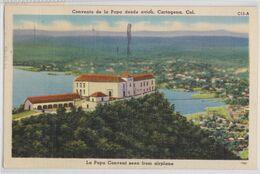 CARTAGENA (Colombia) - Convento De La Popa Desde Avion Kingston Jamaica Stamp Cancellation 1952 - Colombia