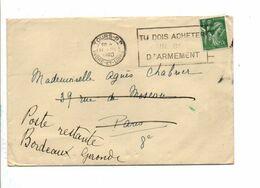 OBLITERATION MECANIQUE DE TOURS 1940 - Marcofilie (Brieven)