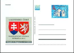 CDV 221 Slovakia Nitrafila Exhibition 2013 Heraldic Lion - Armoiries