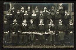 Carte Photo 1916 - WW1 Reconnaissance USA - Drapeau - Flag - Photo De Classe - Ecole D'autrefois - 2 Scans - Schulen