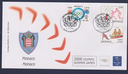 Monaco FDC 2000 Sydney Olympic Games   (LA35) - Sommer 2000: Sydney