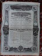 Crédit Foncier Et Agricole De L'état De Minas Geraes, 1911, Brésil - Azioni & Titoli