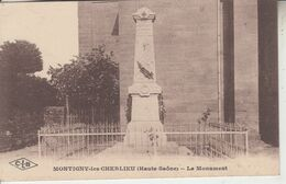 MONTIGNY LES CHERLIEU - Le Monument  PRIX FIXE - Andere Gemeenten