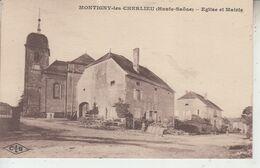 MONTIGNY LES CHERLIEU - Eglise Et Mairie  PRIX FIXE - Andere Gemeenten