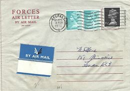 Northern Ireland UK 1972 Belfast HMS Maidstone Prison Ship Operation Demetrius IRA Campaign Forces Air Letter - Militaria