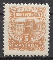 Privat-Stadt-Post Mannheim C 9 * - Privé