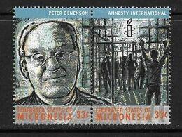 MICRONESIE 2000 PETER BENENSON-AMNESTY INTERNATIONAL YVERT N°844/45 NEUF MNH** - Non Classificati