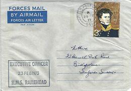 Northern Ireland UK 1973 FPO 551 HMS Ramehead Prison Ship Operation Demetrius IRA Campaign Forces Air Letter - Militaria