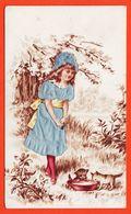 Vaf118 Chromo Relief Robe Soie Bleue JEUNE FILLE Lait CHATONS Chocolat POULAIN Goutez Comparez 1900s Gaufrée - Poulain