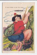 """CP 54 SYSTEME LUNEVILLE """"Si Vous M'aidez Un Peu"""" Alpinisme - Luneville"""