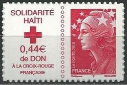 "FR Adhesif YT 388 (4434) "" Solidarité Haïti "" 2010 Neuf** - Adhesive Stamps"