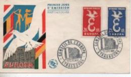1958   FDC   EUROPA  STRSBOURG    N° YVERT ET TELLIER    1173/4 - 1950-1959