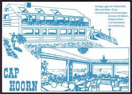 """Helgoland """" Cafe Cap Hoorn Oberland-Norderfalm """" Private Reklamekarte - Helgoland"""