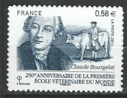 "FR Adhesif YT 565 (4553) "" Claude Bourgelat "" 2011 Neuf** - KlebeBriefmarken"
