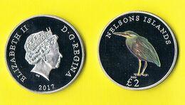 Nelson Islands 2 Pounds - Bird - 2017 - Coins