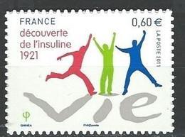 "FR Adhesif YT 635 (4630) "" Découverte De L'insuline "" 2011 Neuf - Sellos Autoadhesivos"