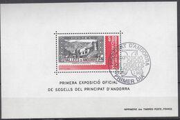 ANDORRA Franz.  Block 1, Gestempelt, Nationale Briefmarkenausstellung 1982 - Blocks & Kleinbögen
