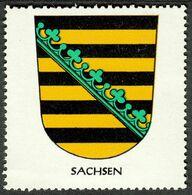 """Deutschland Sachsen """" Altes Wappen Von Provinz Sachsen """" Vignette Cinderella Reklamemarke Heraldik - Erinnofilia"""